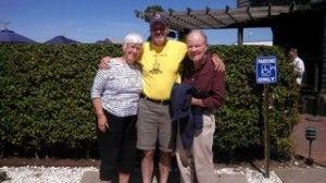 Sarah and Win with John on Nantucket