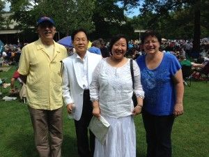 Ron, Cathryn, Lauren and Robin at Tanglewood